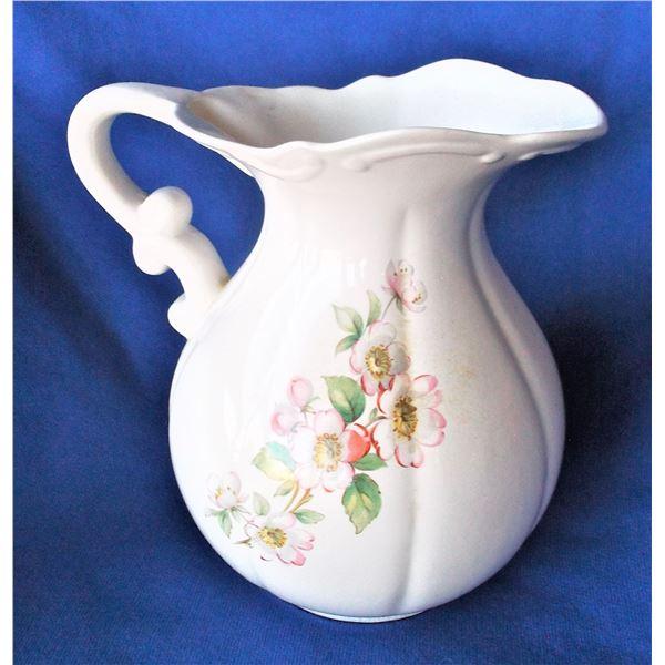 Floral Pattern Pitcher - Duncan Ceramic