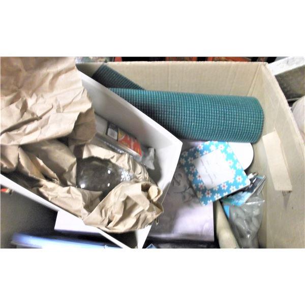 Box of Craft Supplies