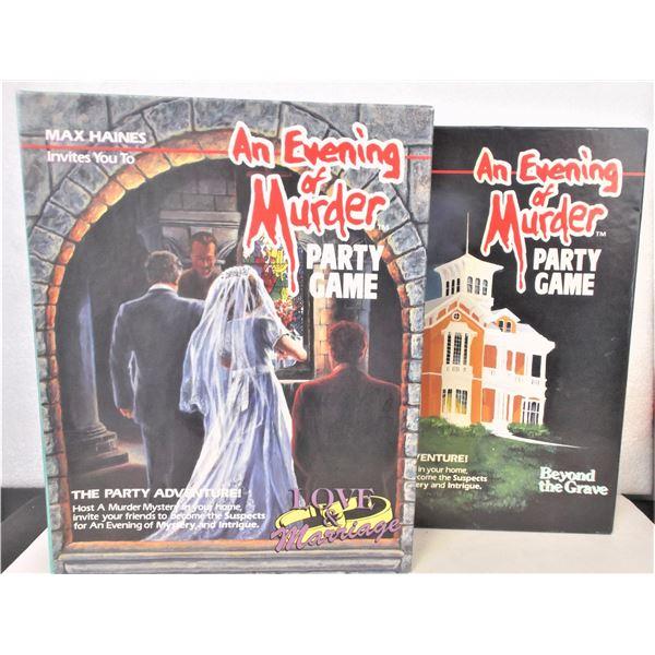 """TWO """"An Evening of Murder"""" Murder Mystery Games"""