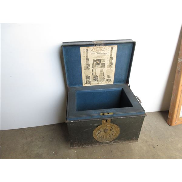 Milner's Patent Fire Resistant Strong Box - Approx 1870's