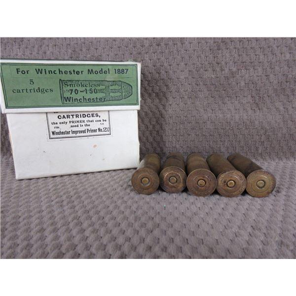 Collector Ammo 70-150 Winchester for 1887 Shotgun