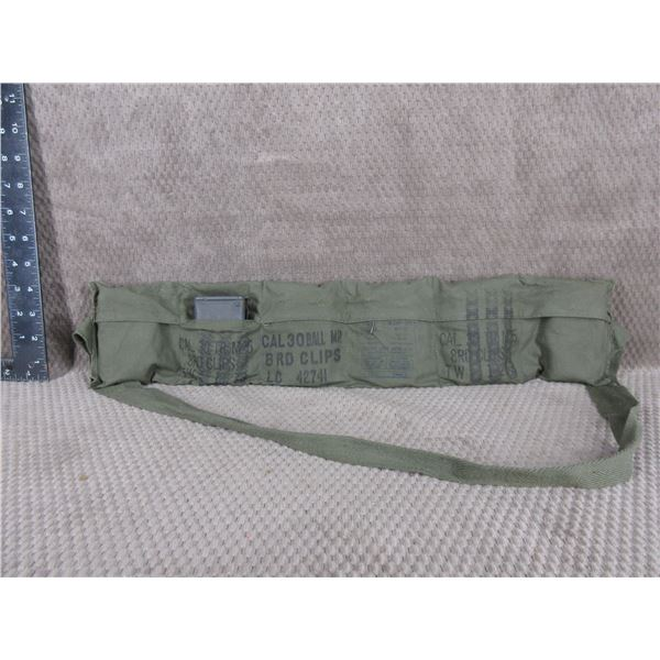 Military Bandolier of 30 Ball - 48 Rounds with Stripper Clips