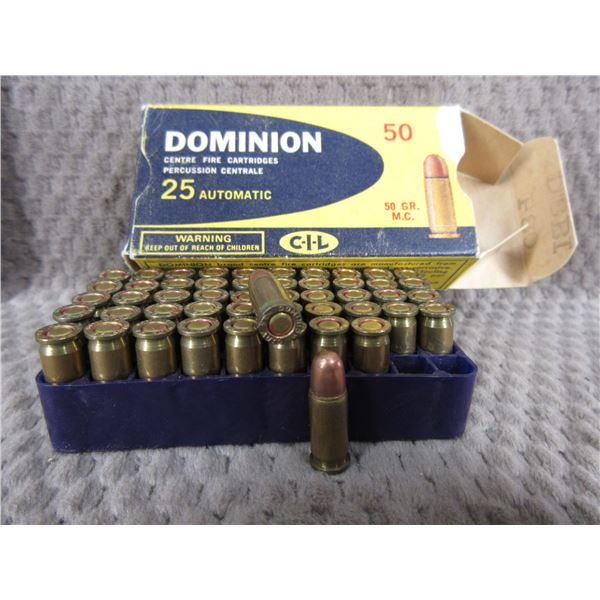 Collector Ammo - Dominion 25 Automatic Box of 50