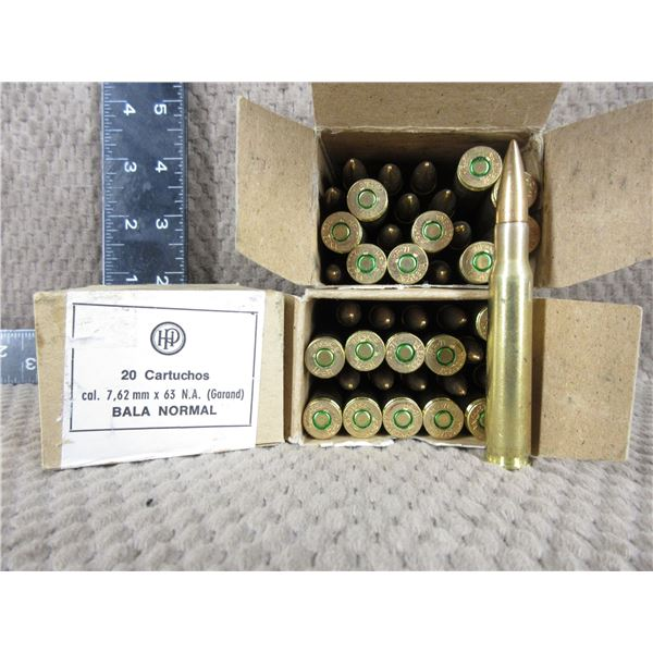 7.62 X 63 Garand - 3 Boxes of 20