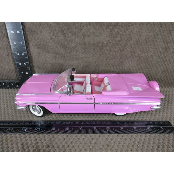 1959 Pink Chevrolet - 1/18 Scale No Box