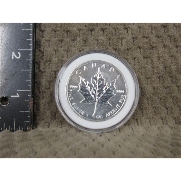 1 Oz. .9999 Fine Silver 2011 Canadain Maple Leaf Coin