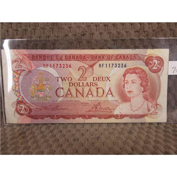 1974 Canada Two Dollar Bill