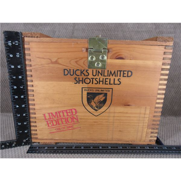 Ducks Unlimited Wood Shotshell Box