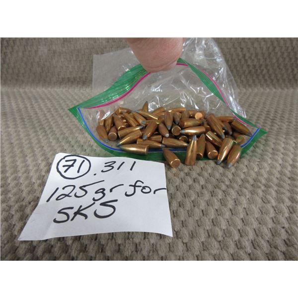 .311 Bullets 125gr for SKS Bag of 71