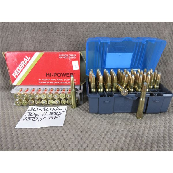 30-30 Win 60 Rounds - Reloads sold as componets