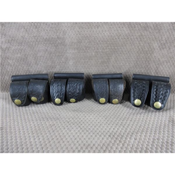 4 Leather Belt Holsters for Speed Loaders