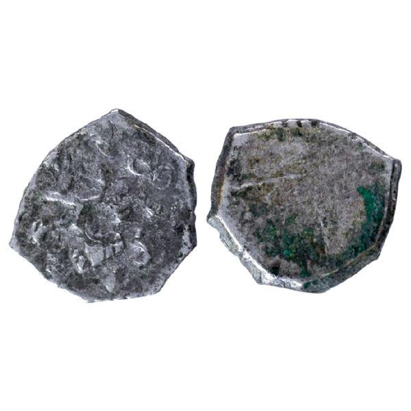 Archaic Punch Marked Coinage, Surashtra Janapada (c. 450-300 BC), Silver ¼ Karshapana, 0.90g, Junaga