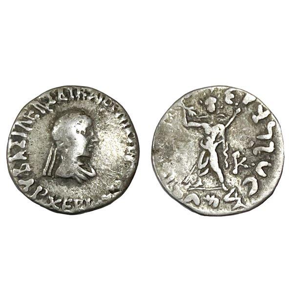 Indo-Greeks, Archebios, (90-80 BC), Silver Drachma, 2.25g