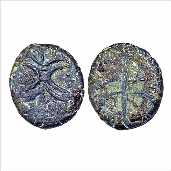 Western Ksatrapas, Kshaharata house, Nahapana, (33-78 AD), Copper Unit, Bhokardan series, 3.50g