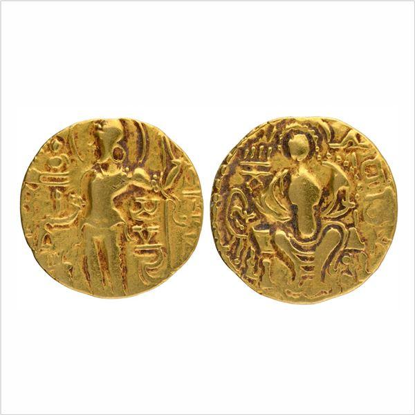 "Gupta Dynasty, Samudragupta,Gold Dinar, ""Scepter/Standard"" type, 7.52g"