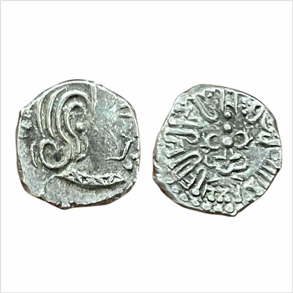 Gupta Dynasty, Kumar Gupta I (AD415-455). Silver Drachma, 2.03g