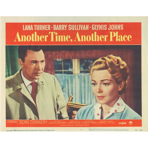 Another Time, Another Place 1958 original vintage lobby card