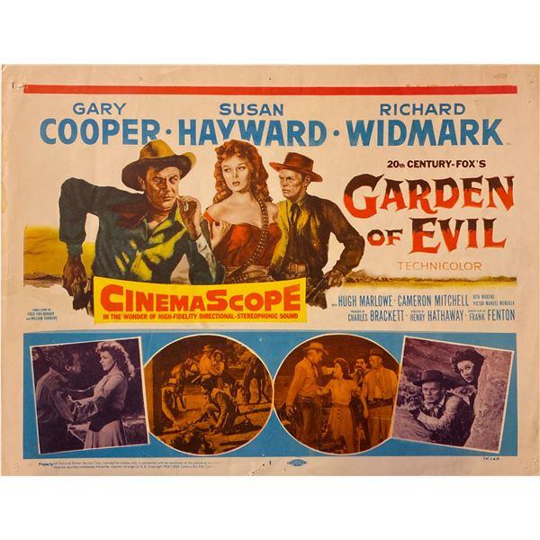 Garden of Evil 1954 Original Vintage Lobby Card