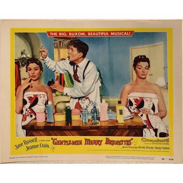 Gentlemen Marry Brunettes original 1955 vintage lobby card
