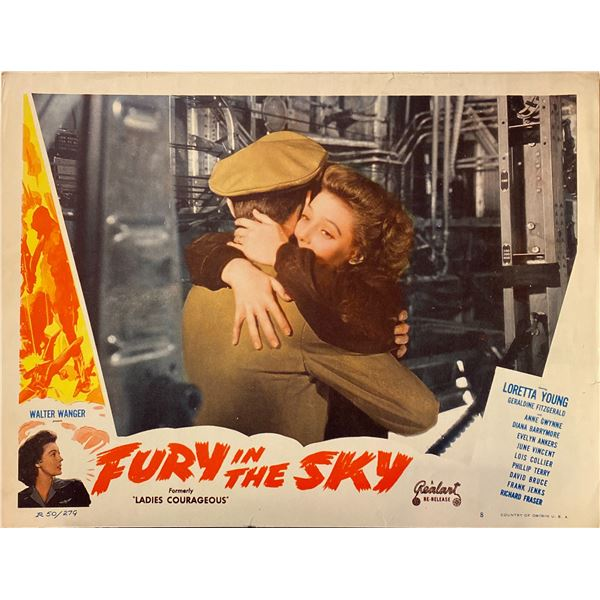 Fury in the Sky 1950R Original Vintage Lobby Card on Heavy Card Stock. 11x14 inches