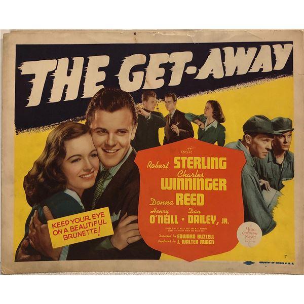 The Get-Away original 1941 vintage lobby card