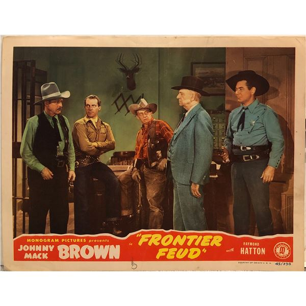 Frontier Feud 1945 Original Vintage Lobby Card