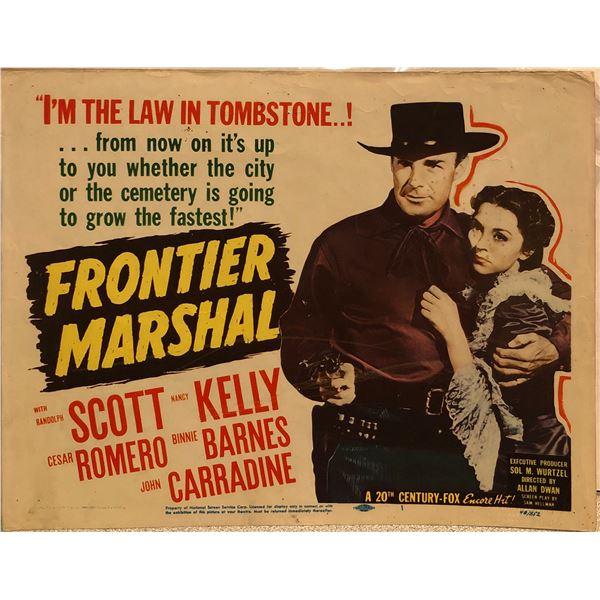 Frontier Marshal 1948R Original Vintage Lobby Card