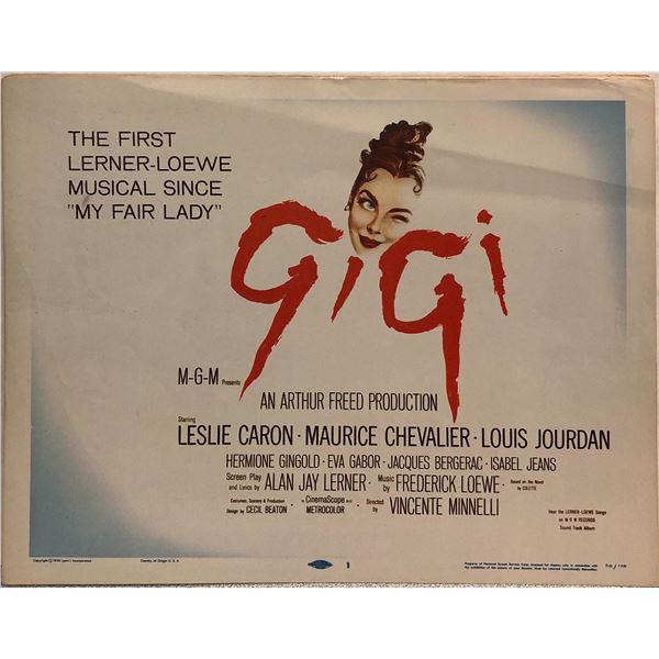Gigi original 1958 vintage lobby card