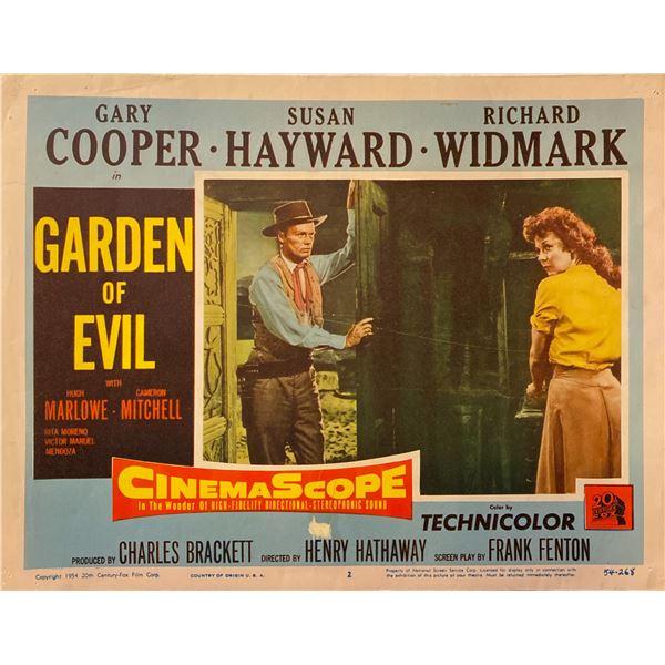Garden of Evil Original Vintage Lobby Card