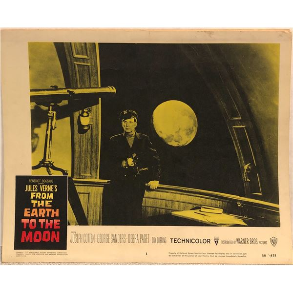 From The Earth To The Moon 1958 Original Vintage Lobby Card