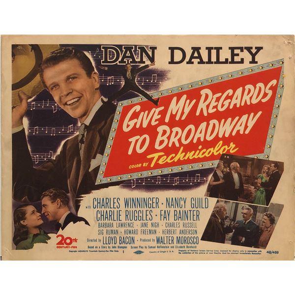 Give My Regards to Broadway original 1948 vintage lobby card