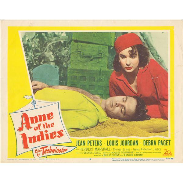 Anne of the Indies 1951 original vintage lobby card