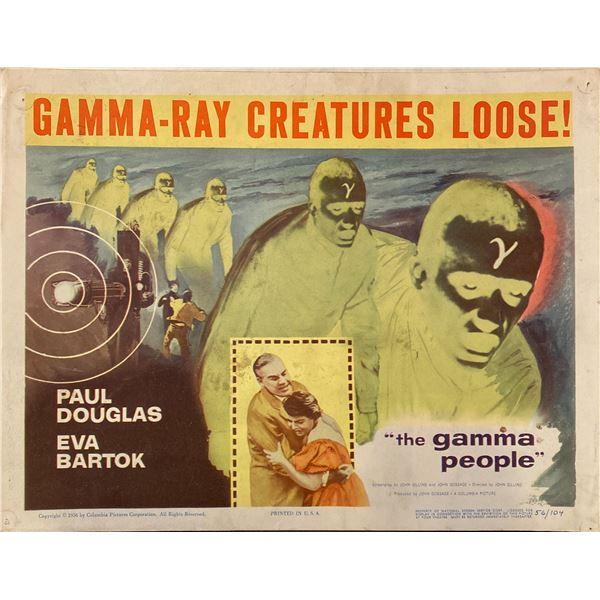The Gamma People 1956 Original Vintage Lobby Card