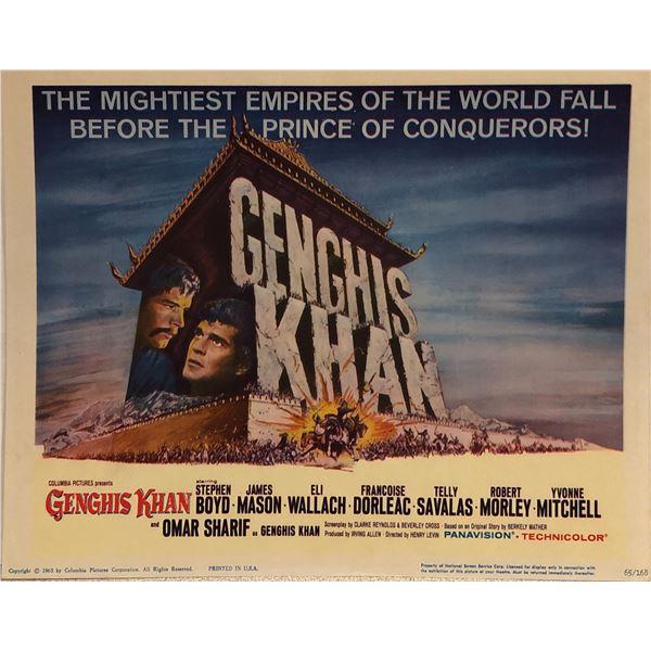 Genghis Khan original 1965 vintage lobby card