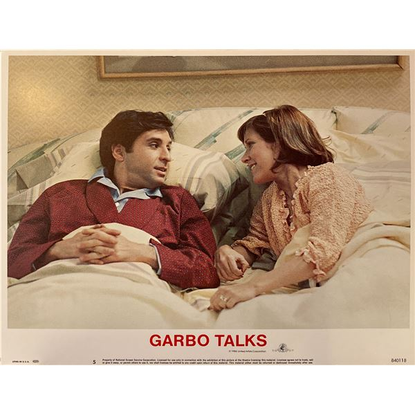 Garbo Talks 1984 Original Vintage Lobby Card