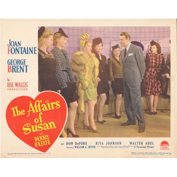 The Affairs of Susan 1945 original vintage lobby card