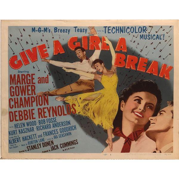 Give a Girl a Break original 1953 vintage lobby card
