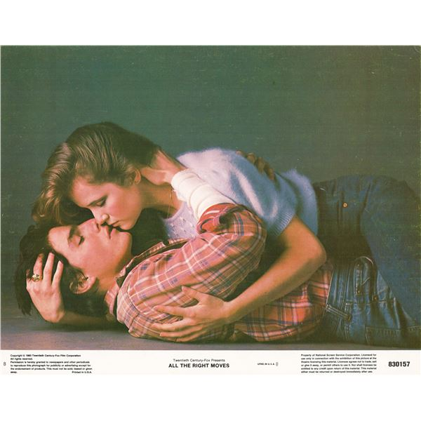 All the Right Moves 1983 original vintage lobby card