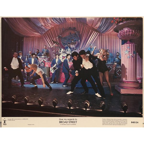 Give My Regards to Broad Street original 1984 vintage lobby card