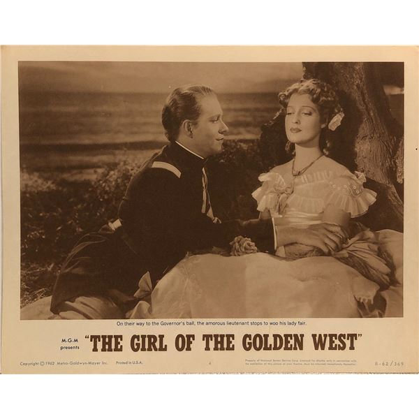 The Girl of the Golden West original 1962R vintage lobby card