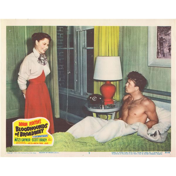 Bloodhounds of Broadway 1952 original vintage lobby card