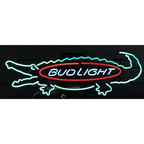 Bud Light Bar Neon Sign Alligator 16 X 48 Nos