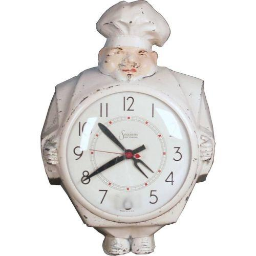 Excellent Sessions Electric Kitchen Clock In Shape Of Chef Home Interior And Landscaping Transignezvosmurscom