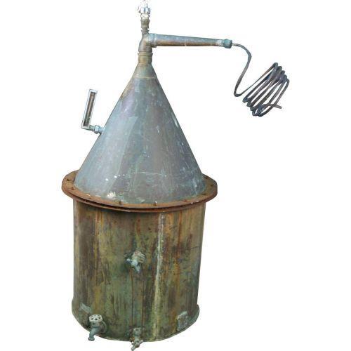 Antique Copper Moonshine Still
