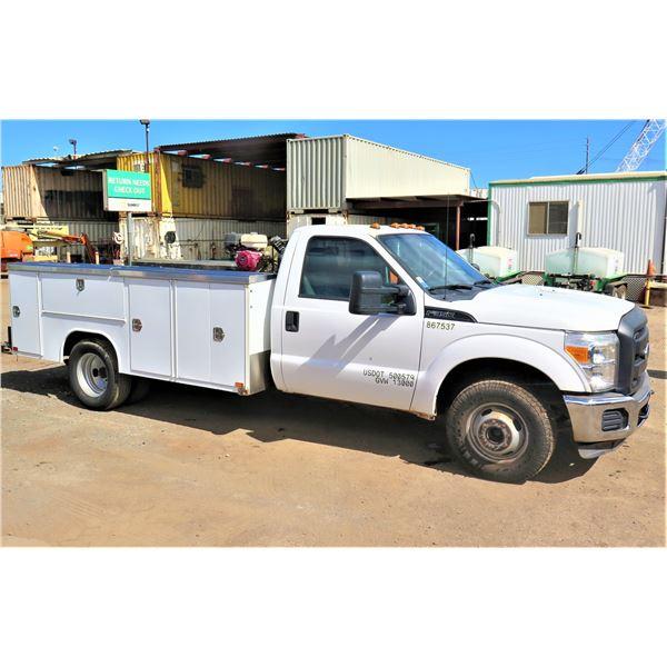 2014 Ford Super Duty Service Truck with Compressor, Lic. 876TWC, 51,515 Miles, Starts & Runs