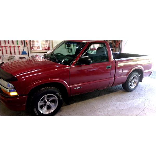Chevy S-10 Pickup, Lawn Tractor, Like-New Tools, Harley Items, Hunting Items, Guns, Electronics, In