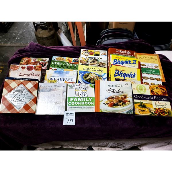 15 PC ASSORTED COOK BOOKS