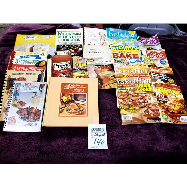 20 PC ASSORTED COOK BOOKS AND COOKING MAGAZINES