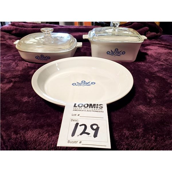 3 PIECES OF CORNING WARE, NEW