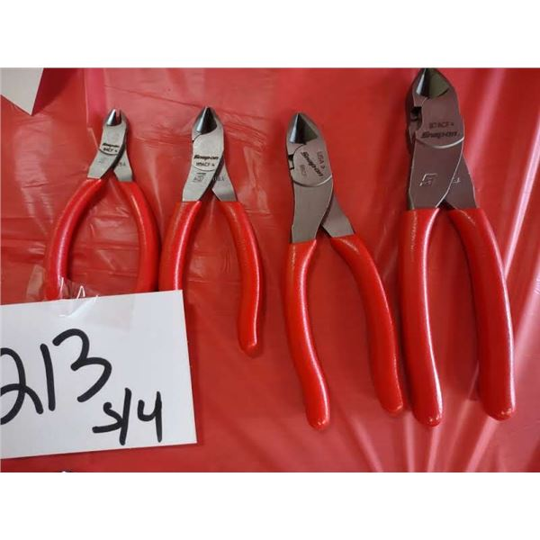 SNAP-ON 4 PC SIDE CUTTER SET, LOOK NEW